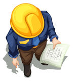 A topview of an engineer working Stock Image