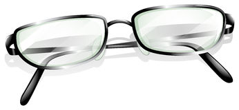 A topview of an eyeglass Royalty Free Stock Photos