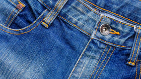 Topview metal studs of blue jeans royalty free stock image
