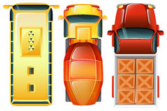 Topview samochody przy parking terenem Zdjęcia Royalty Free
