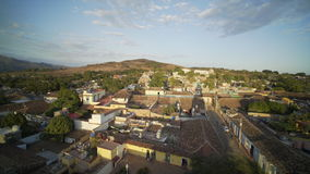 TopView on Tile roofs of old Trinidad stock video