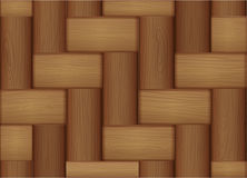 A topview of a wooden tile Stock Photography
