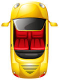 A topview of a yellow car Royalty Free Stock Photos