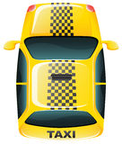 A topview of a yellow taxi cab Royalty Free Stock Photos