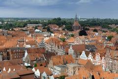 Topwn Hanseatic Luneburg, Allemagne Photographie stock libre de droits