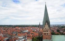 Topwn Hanseatic Luneburg, Germania fotografia stock