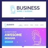 Toque bonito da marca do conceito do negócio, clique, mão, sobre, st ilustração royalty free