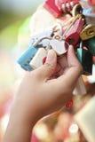 Toque da chave mestra do coração (Seoul, Coreia do Sul) foto de stock