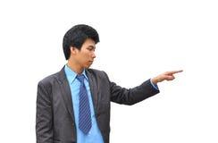 Toque da mão do homem de negócios Imagens de Stock Royalty Free