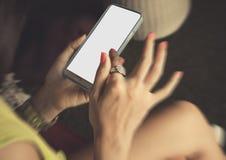 Toque de Smartphone Imagens de Stock