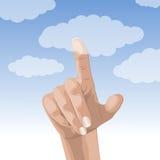 Toque el cielo Imagenes de archivo