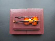 Toque el violín los libros Foto de archivo