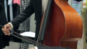Toque el violín y el violoncelo almacen de video