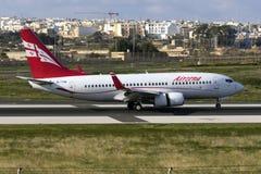 Toque 737 Georgian para baixo Imagens de Stock
