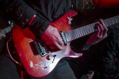 Toque la guitarra Imagen de archivo