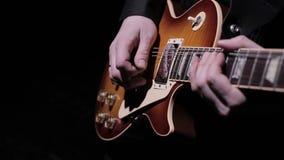 Toque la guitarra eléctrica 3 almacen de video