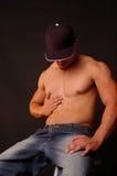 Toque masculino Imagens de Stock Royalty Free