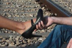 Toque romântico Fotografia de Stock Royalty Free