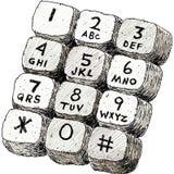 Toque Tone Keypad ilustração royalty free