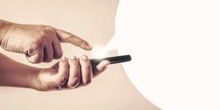 Toque y envíe el mensaje Imagen de archivo libre de regalías