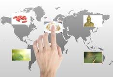 Toques da mão imagens de stock royalty free