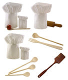 Toques and utensils set Royalty Free Stock Image