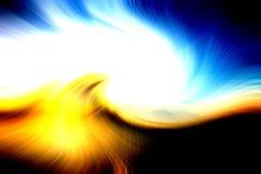 Torção abstrata da luz do raio foto de stock