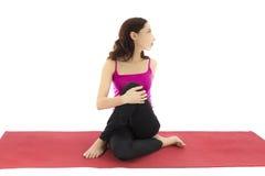Torção da ioga foto de stock