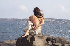 Torção espinal assentada Fotos de Stock Royalty Free
