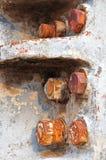 Torção oxidada do ferro em uma maquinaria Fotografia de Stock