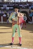 Toréador espagnol Manuel Jesus El Cid au paseillo ou au défilé initial à Ubeda Image stock