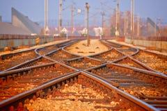 torów kolejowych Fotografia Royalty Free