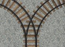 torów kolejowych Ilustracji