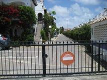Tor über einer Straße Lizenzfreies Stockfoto