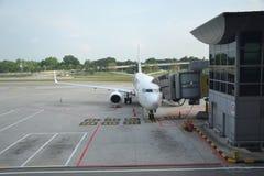 737 am Tor Lizenzfreies Stockfoto