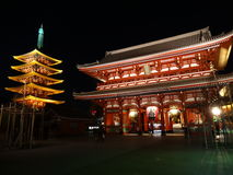 Tor Asakusa - Hozomon Stockfotos