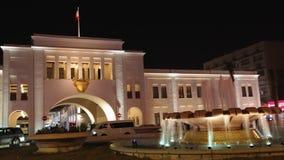 Tor Bab-Al-Bahrains Souk nachts, Manama 01 - Zeitspanne stock video footage