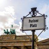 Tor Berlim de Brandenburger Fotografia de Stock
