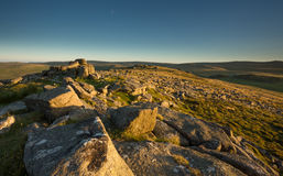 Tor Dartmoor Девон Великобритания Belstone Стоковое Фото