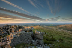 Tor Dartmoor Devon Reino Unido de Belstone Fotos de archivo libres de regalías