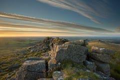 Tor Dartmoor Devon Reino Unido de Belstone Fotografía de archivo libre de regalías