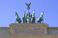 Tor de Brandeburgo y la cuadriga de Victoria Fotografía de archivo libre de regalías