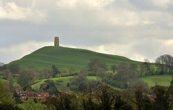 Tor de Glastonbury, Somerset Imagens de Stock