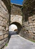 Tor in der römischen Wand von Lugo Galizien, Spanien Stockfotografie