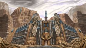 Tor der Sandstadt Stockfoto