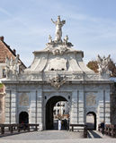 Tor der Zitadelle Alba Iulia lizenzfreies stockbild