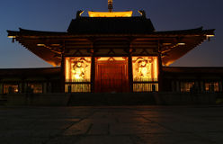 Tor des alten Shitennoji-Tempels in Osaka, Japan Stockfoto
