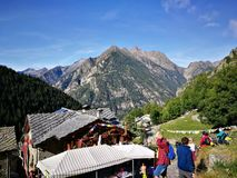 Tor des Geants 2017 trail race Stock Photo