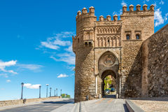 Tor des Sun (Puerta del Sol) in Toledo Stockfotografie