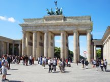 Tor di Berlino, Brandeburgo della porta di Brandeburgo immagini stock libere da diritti